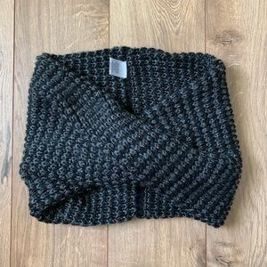 SOLD Black and Grey Sparkle Infinity Scarf